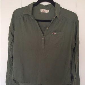 Olive Hollister shirt